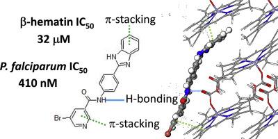 Hemozoin inhibiting 2-phenylbenzimidazoles active against