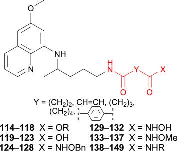 Primaquine derivatives: Modifications of the terminal amino