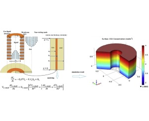 Mathematical modeling for the simultaneous absorption of CO2 and SO2