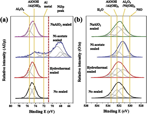 Non-nickel-based sealing of anodic porous aluminum oxide in NaAlO2