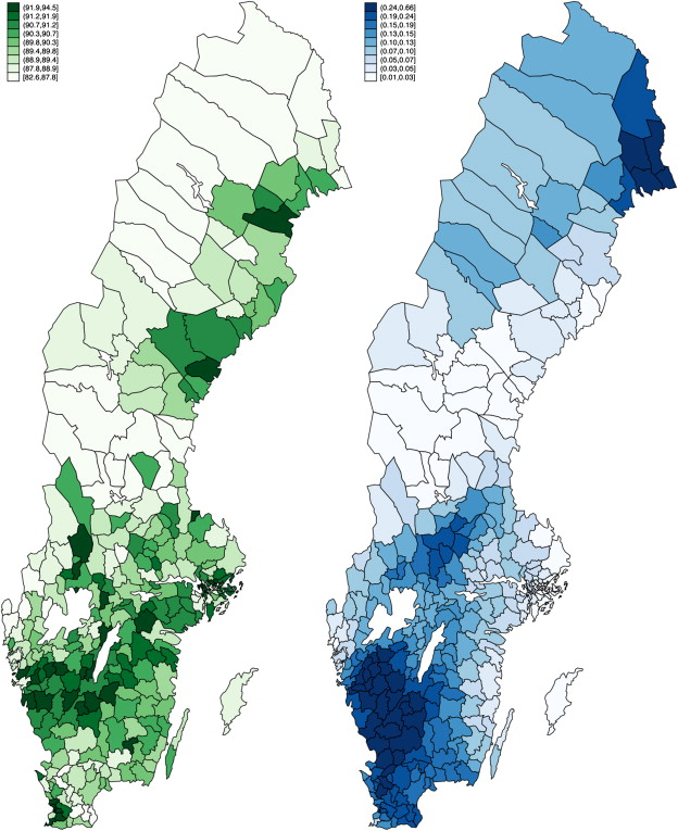 Does Election Day Weather Affect Voter Turnout Evidence From - Sweden election map