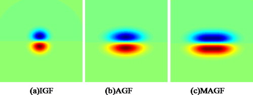 Two-dimensional multi-pixel anisotropic Gaussian filter for