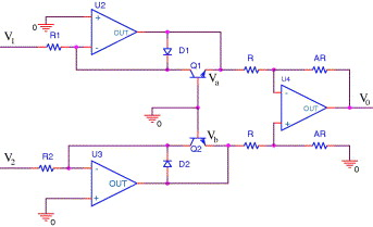 An analog non-linear signal conditioning circuit for