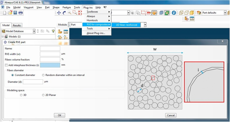 An Abaqus™ plug-in for the geometry generation of