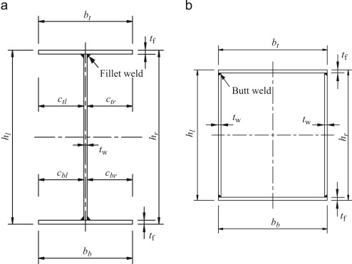 Stub column tests on stainless steel built-up sections - ScienceDirect
