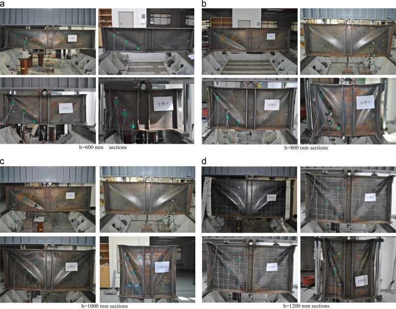 The shear strength of end web panels of plate girders with tension