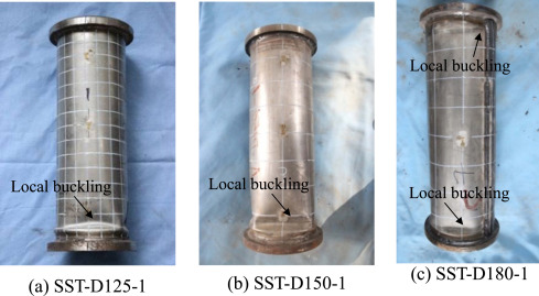 Behavior of axially loaded circular stainless steel tube confined