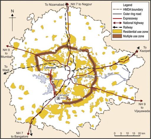 Hyderabad: Visioning, restructuring and making of a high ... on islamabad map, courtallam map, chhatrapati shivaji international airport map, lahore map, saddar map, south asia map, peshawar map, india map, trivandrum map, duqm map, karachi map, chennai map, assam map, colombo map, anantapur district map, ahmedabad gujarat map, myanmar map, dhaka map, magarpatta map, andhra pradesh map,