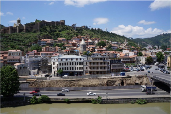 Part of Old Tbilisi after reconstruction