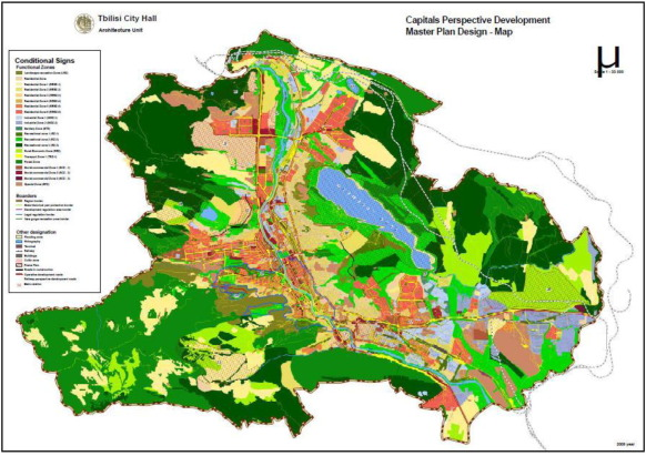 The Master Plan of Tbilisi of 2009