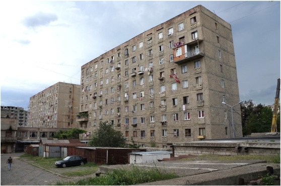Late Soviet neighborhoods suffering a lack of maintenance