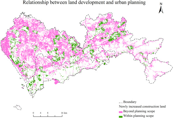 Effects of urban planning in guiding urban growth: Evidence from
