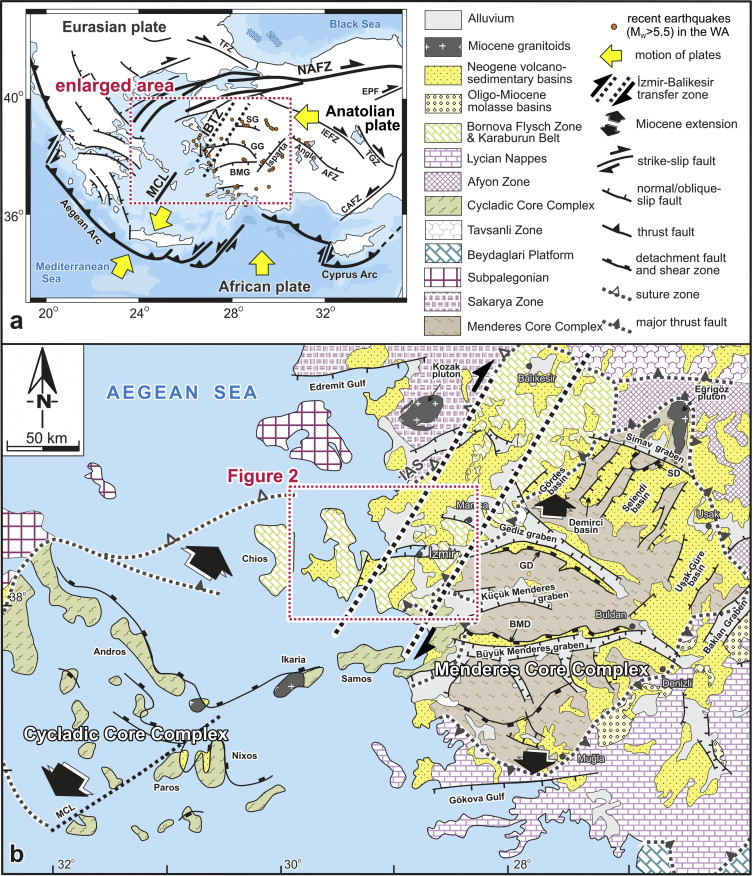 Structural evidence for strikeslip deformation in the zmir
