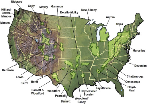 A Comparison Of North American Shale Plays With Emerging Non - Map of us shale plays
