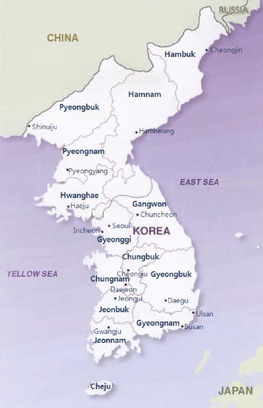Forest transition in South Korea: Reality, path and drivers ... on capital of korea, n. korea, map from florida to korea, area of russia near korea, pyongyang korea, world map korea,