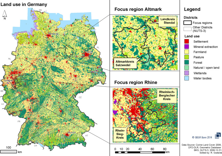 National And Regional Landuse Conflicts In Germany From The - Germany nuts 3 map