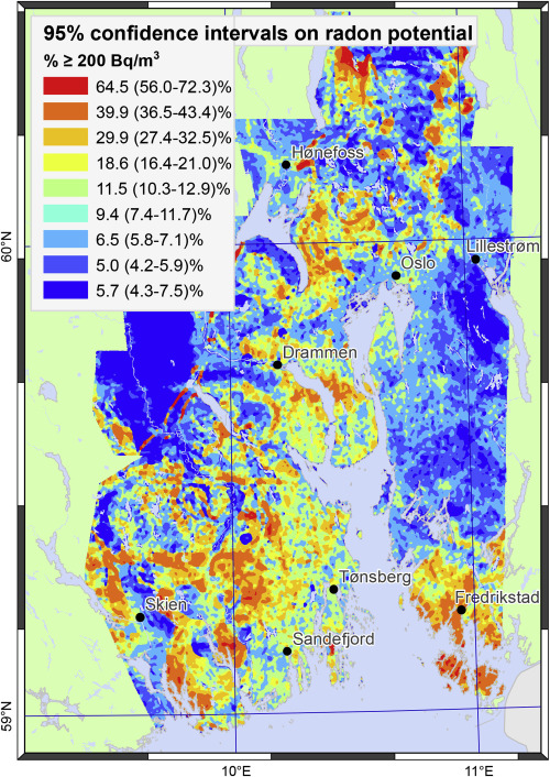 The Predictive Power Of Airborne Gamma Ray Survey Data On The - Us radon map