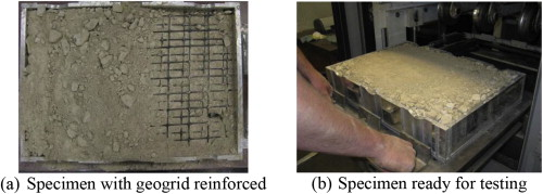 Evaluation of geogrid reinforcement effects on unbound granular