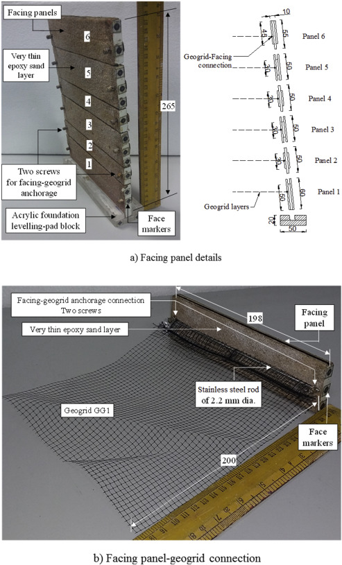 Centrifuge model study on geogrid reinforced soil walls with