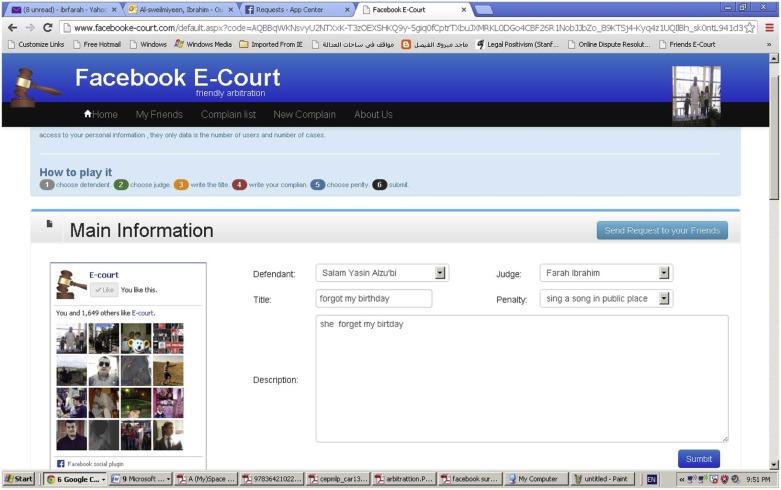 Facebook e-court: Online justice for online disputes