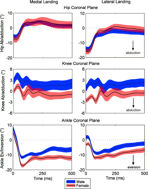 a comparison of dynamic coronal plane excursion between matched male