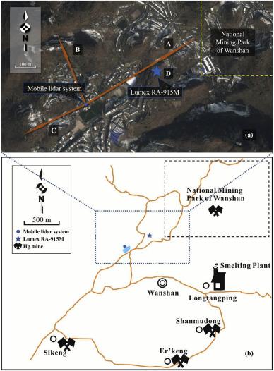 Lidar mapping of atmospheric atomic mercury in the Wanshan