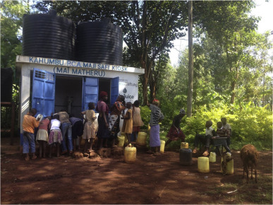 Increasing the regular use of safe water kiosk through collective