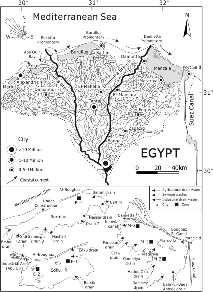 Lagoons Of The Nile Delta Egypt Heavy Metal Sink With A Special