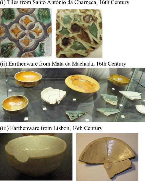Spectroscopy of 16th century Portuguese tin-glazed earthenware