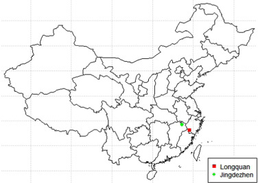 Datadriven Research On Chemical Features Of Jingdezhen And - Jingdezhen map