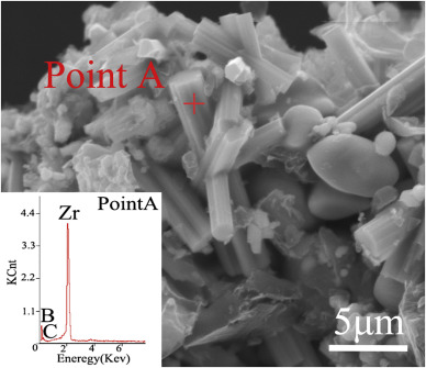 Synthesis of rod-like ZrB2 crystals by boro/carbothermal