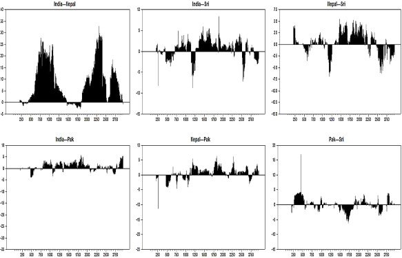 Examining dynamic currency linkages amongst South Asian