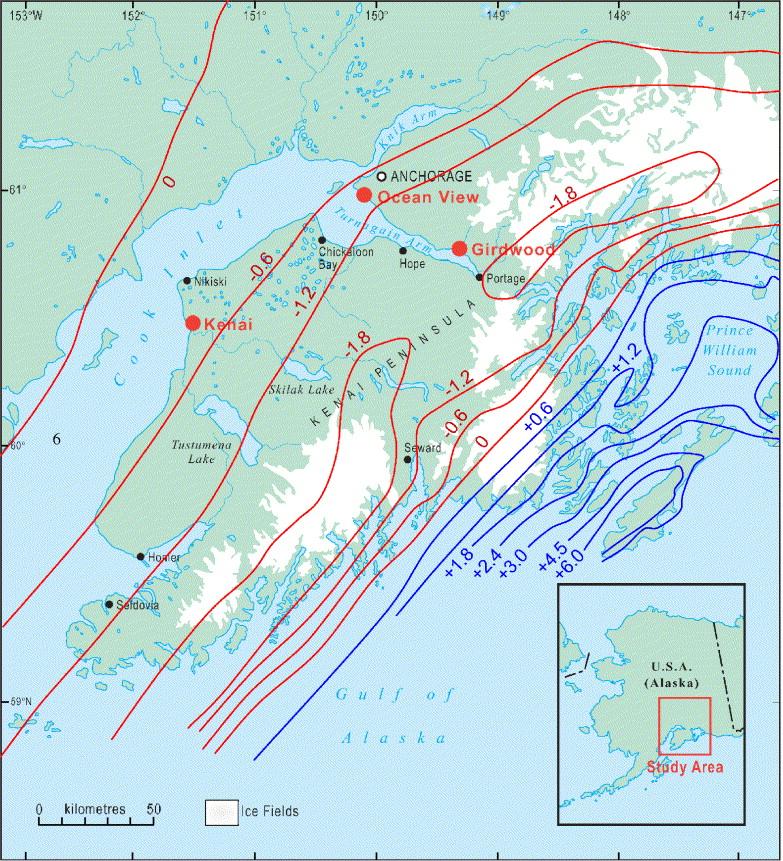 Late Holocene relative sea-level changes and the earthquake