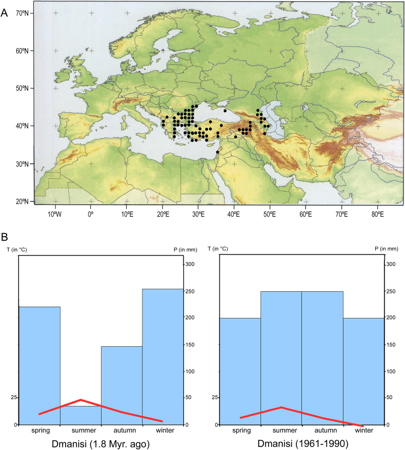 Dmanisi Georgia Map.Paleoclimatic And Paleoenvironmental Context Of The Early