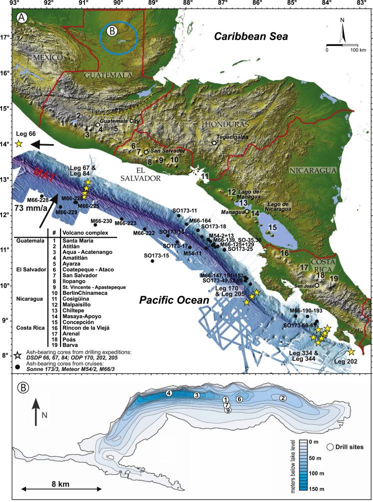 A 400ka tephrochronological framework for Central America from Lake
