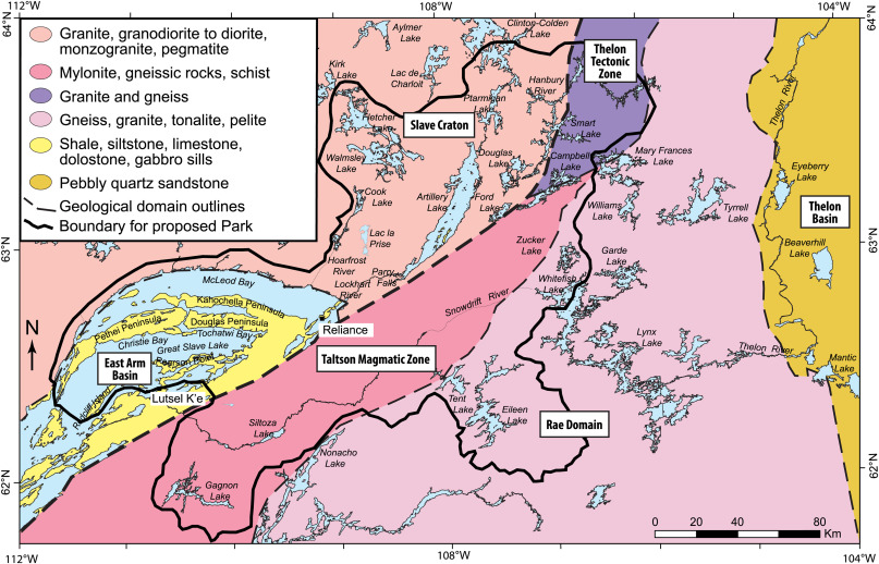 great slave lake on map Glacial Dispersal And Flow History East Arm Area Of Great Slave great slave lake on map