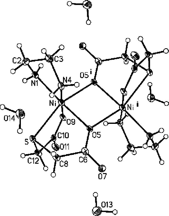 Syntheses And Study On Nickelii Complexes With Thiodiglycolic Acid