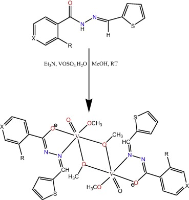 Vanadiumv Complexes Of Some Bidentate Hydrazone Ligands And Their