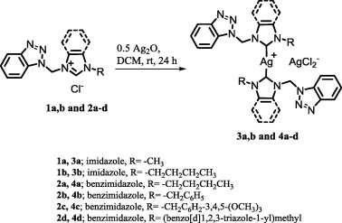 Benzotriazole functionalized N-heterocyclic carbene–silver(I