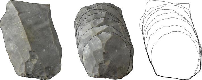 Distribution patterns of stone-tool reduction: Establishing frames