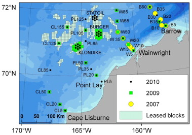 Marine mammal acoustic detections in the northeastern Chukchi Sea