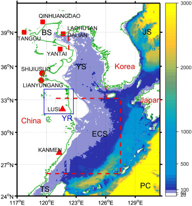 Regional sea level variability in the Bohai Sea Yellow Sea and