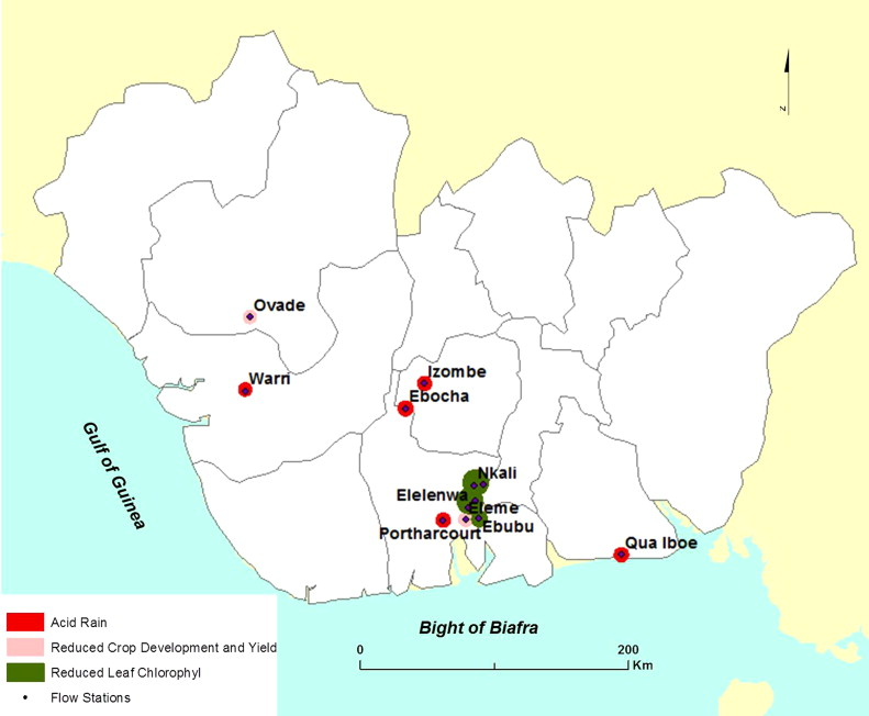 Hydrocarbon pollution in the Niger Delta: Geographies of