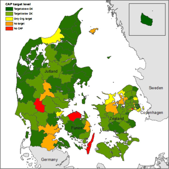 Denmark Climate Map Local climate action plans in climate change mitigation