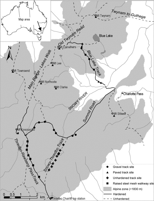 Vegetation Associated With Different Walking Track Types In The