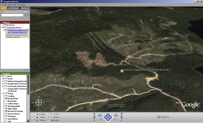 The ethics of Google Earth: Crossing thresholds from spatial data to