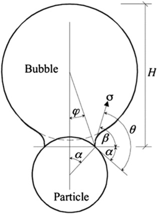 The Dynamic Contact Angle Of A Bubble With An Immersed In Water