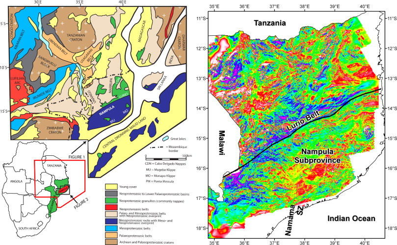 Mesoproterozoic geology of the Nampula Block northern Mozambique