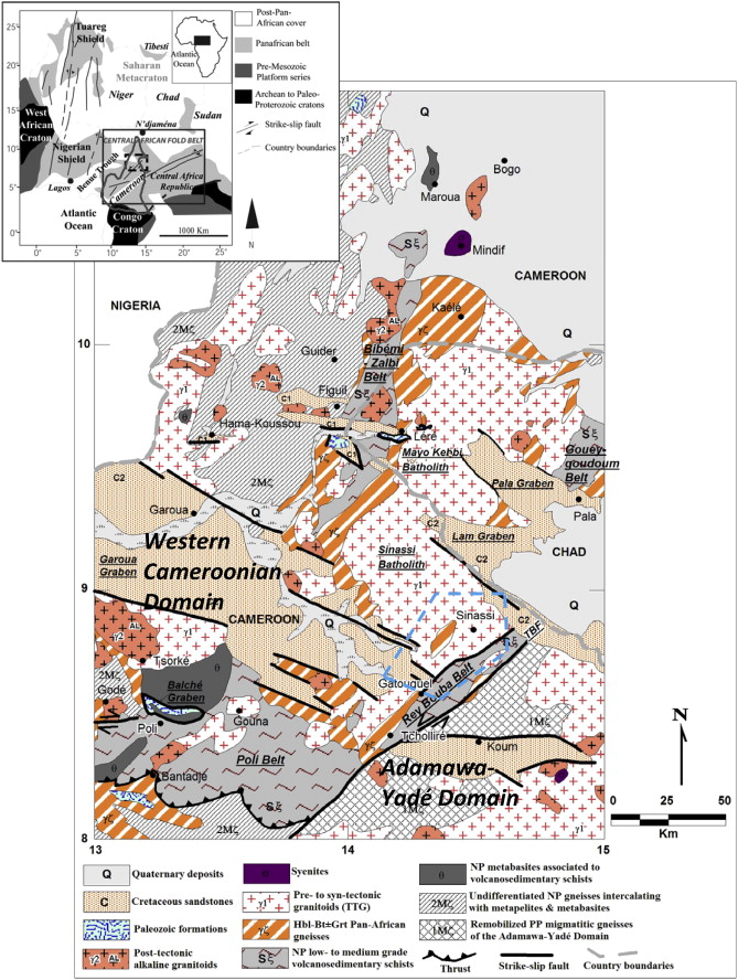Neoproterozoic subduction related metavolcanic and metasedimentary geological map of northern cameroon and southwestern chad tbf tchollir banyo fault np neoproterozoic pp paleoproterozoic ccuart Image collections