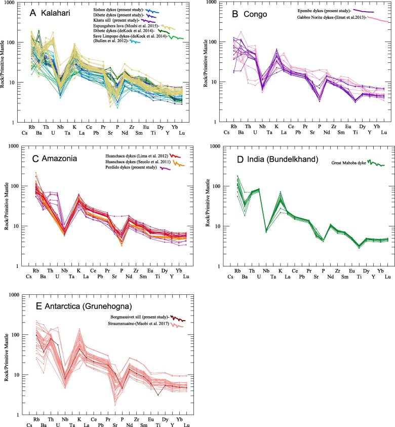 Geochemical characterization of a reconstructed 1110 Ma Large